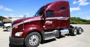 Kenworth T700 truck lettering & graphics for Martin Milk Service Wilton, Wisconsin