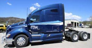 Kenworth T680 truck lettering & graphics for Martin Milk Service Wilton, Wisconsin
