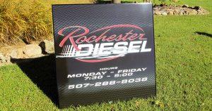 Building sign for Rochester Diesel Rochester, Minnesota