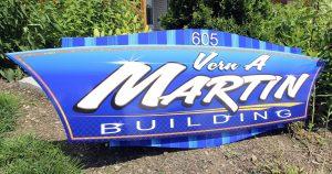 Building sign for Martin Milk Service Wilton, Wisconsin