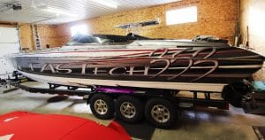 Formula 353 FasTech boat lettering & graphics from Winneconne, Wisconsin