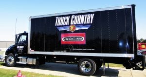 Freightliner cube truck lettering & graphics for Truck Country Madison, Wisconsin