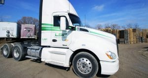 Kenworth T680 truck lettering & graphics for Lumber Sales & Products Jackson, Wisconsin