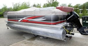 Pontoon boat wrap from West Bend, Wisconsin