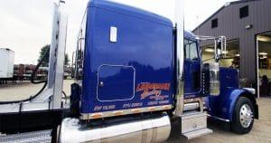Peterbilt 389 truck lettering for Josh Frye Elroy, Wisconsin