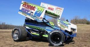 IRA sprint car lettering & graphics for Rusty Motorsports Kewaskum, Wisconsin