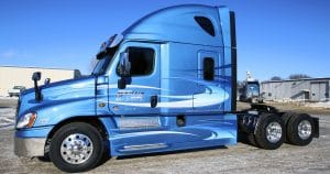 Freightliner Cascadia truck lettering & graphics for Martin Milk Service Wilton, Wisconsin