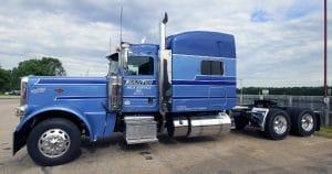 Peterbilt 389 truck lettering & graphics for Martin Milk Service Wilton, Wisconsin