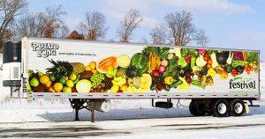 Semi trailer wrap for Festival Foods La Crosse, Wisconsin