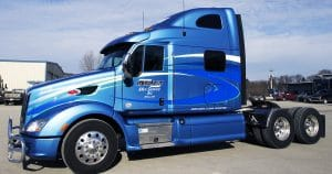 Peterbilt 587 truck lettering & graphics for Martin Milk Service Wilton, Wisconsin
