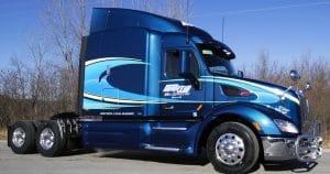 Peterbilt 579 truck lettering & graphics for Martin Milk Service Wilton, Wisconsin