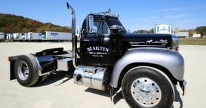 Mack truck lettering for Martin Milk Service Wilton, Wisconsin