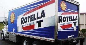 Box truck wrap for Rassmussen Oil Sparta, Wisconsin