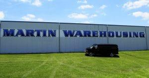Building mount sign for Martin Warehousing Wilton, Wisconsin