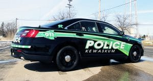 Ford reflective police car graphics for Kewaskum Police Kewaskum, Wisconsin