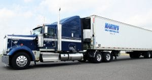 Kenworth W900 truck lettering & graphics for Martin Milk Service Wilton, Wisconsin