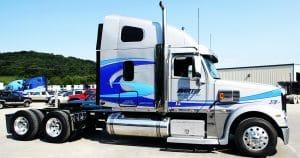Freightliner Coronado truck lettering & graphics for Martin Milk Service Wilton, Wisconsin