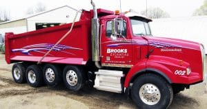 Western Star dump truck lettering & graphics for Brooks Excavating Sparta, Wisconsin