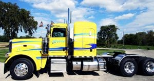Peterbilt 389 truck lettering & graphics for Wiese Trucking Lomira, Wisconsin