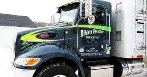 Peterbilt truck lettering & graphics for Dennis Feucht Trucking Lomira, Wisconsin