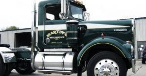Kenworth truck lettering & graphics for Martin Milk Service Wilton, Wisconsin