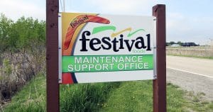 Ground mount reflective sign for Festival Foods Depere, Wisconsin