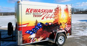 Boy Scout enclosed trailer wrap