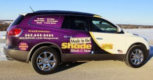 Made in the Shade SUV vehicle wrap